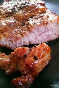 Convection Oven – Pork Shoulder Juicy Soft Steak – สเต๊ก สันคอหมู บ้านๆ เนื้อฉ่ำนุ่ม ด้วยหม้อฝาอบลมร้อน