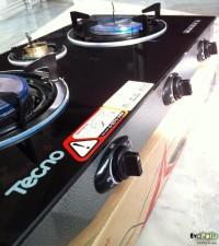 Tecno-Star IR3710GB 3 Burners Glass-Top Gas Stove – เทคโนสตาร์ เตาแก๊สตั้งโต๊ะ 3 หัว อินฟาเรด ประหยัดแก๊ส